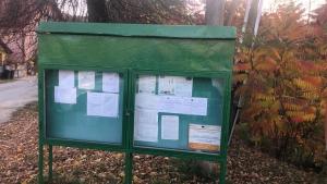 Informačná tabuľa v obci Rokycany